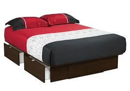 platform bed with storage drawers
