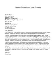 Example Of Cover Letter For Nursing Student Resume Cover Letter
