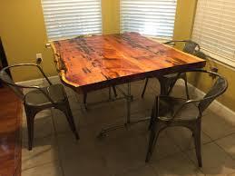 cypress coffee table sabre leg pedestal table round