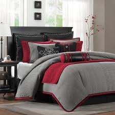 great red and black comforter sets queen with pink beautiful flower decoration