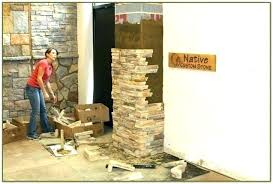 faux stone accent wall amusing design pallet diy stacked accen