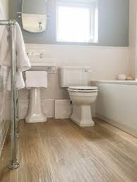 Fine Wood Floor Tiles Bathroom Metro And White Suite Google Search With Beautiful Ideas