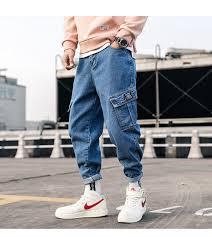 2019 <b>Zogaa</b> Streetwear Blue <b>Jeans Pants</b> 2019 <b>Mens</b> Pockets Hip ...