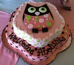 Baby Girl Owl Baby Shower Cake  All Buttercream 12 Sheet Cake Owl Baby Shower Cakes For A Girl