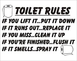 office bathroom rules. Unique Rules Sticker Pour WC Toilet Rules If You Lift It Put Down Amazonfr Cuisine  U0026 Maison Throughout Office Bathroom T