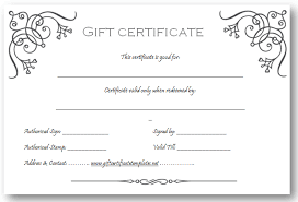 Printable Gift Voucher Template