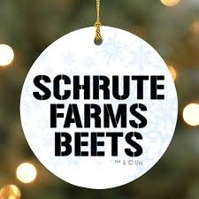 Image Scott Bobblehead The Office Schrute Farms Beets Ornament Nbc Store The Office Holiday Gift Guide Ornaments Worlds Best Boss Mug