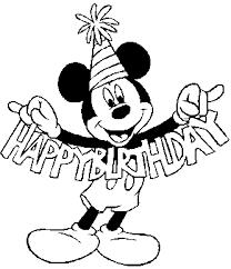 Mickey18gif Kleurplaat Mickey Verjaardag Kleurplaten Mickey