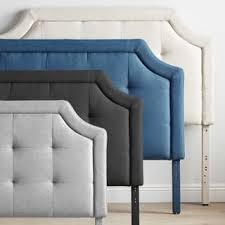 blue upholstered headboard. Modren Blue BROOKSIDE Upholstered ScoopEdge Headboard With Square Tufting Inside Blue N