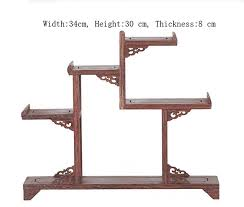 Wooden Display Stands For Figurines Exquisite Chinese Decoratable Classical Handmade Wenge Wooden 48