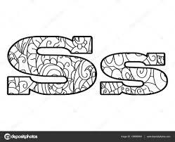 Anti Kleurplaat Boek Alfabet De Letter S Vector Illustratie