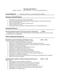 Career Objective Seeking Job Position As A Nursing Certified Nursing