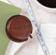 personalised leather tape measure two colours