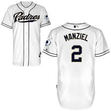 Diego San - Johnny Majestic Padres Cool Mlb Base Manziel White Men's Authentic Jersey Home