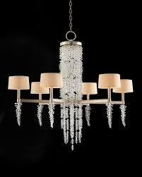 cascading crystal waterfall six light chandelier