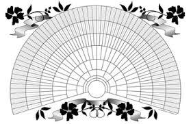 Fan Family Tree Charts Templates 11x17 Printable Genealogy Fan Chart Decorative Floral Design