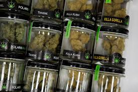 s sit in a drawer at blÜm las vegas cal dispensary on wednesday