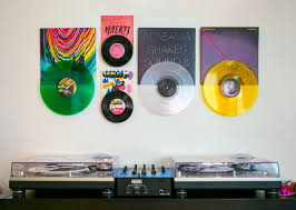 how to create the perfect vinyl record wall