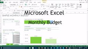 How To Make A Monthly Budget On Excel How To Make A Monthly Budget In Excel Tutorial Youtube