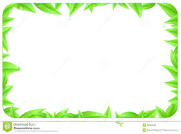 Designs Made From Leaves Nature Border Design Clipart