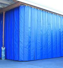 retractable acoustic curtains with single barrier technology