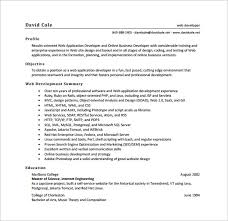 Web Developer Resume PDF Free Download