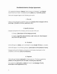 residential interior design letter agreement s of