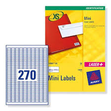 avery sheet labels avery j8659 mini inkjet identification labels 270 per sheet ref j8659rev 25 pack 6750