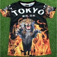 เสื้อยืดเด็กลายเสือไฟ TOKIO