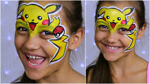 pokemon go pikachu makeup for kids face painting tutorial you