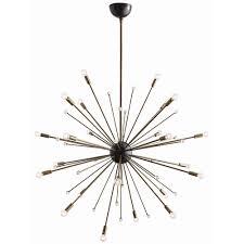 arteriors imogene large chandelier in vintage brass