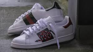 gucci adidas shoes. diy gucci x adidas customized shoes