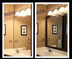 trim around bathroom mirror. DIY Framing A Bathroom Mirror - Such Neat Way To Customize The BIG Ol\u0027 Trim Around U