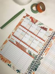 College Planners 2020 A Well Planned Day College Planner Blossom Design July 2019 June 2020