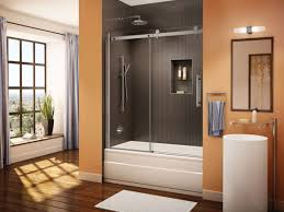 Glass Doors For Bathtub Bathtubs Enchanting Bathroom Tub Sliding Glass Doors 86 Sliding