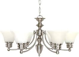 brushed nickel chandelier for kitchen satin canopy empire bell glass home improvement outstanding modern