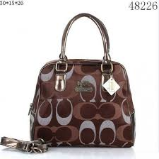 Coach Bleecker Pinnacle Riley Logo Medium Coffee Satchels ETV