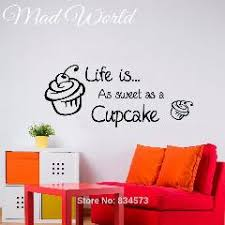 mad world life is as sweet as a cupcake wall art stickers wall decals home diy decoration removable bedroom decor wall stickers on cupcake wall art stickers with mad world life is as sweet as a cupcake wall art stickers wall