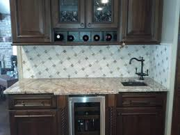 cut glass tile backsplash