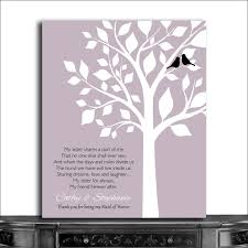 personalized gift thank you for being my maid of honor sister of bride gift from bride and groom cwa 1065