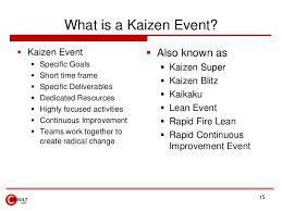 Kaizen Events Blitz Lean Projects