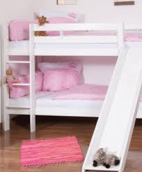 Image Diy Custom Kids Furniture Olivia White Wooden Bunk Bed With Slide