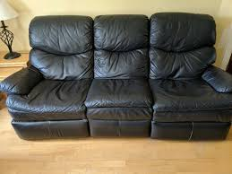 free 3 2 seater sofa recliner black natuzzi real leather free