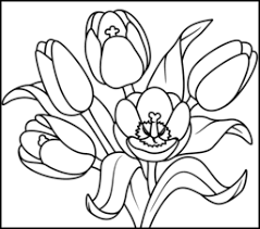 Small Picture Tulip Coloring Page Printables Apps for Kids