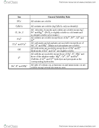 Chem 131 Lecture 1 Solubility Rules Chart Docx Oneclass