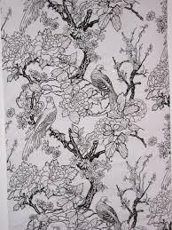Handmade Wallpaper Design Detail Of Chinoiserie Reverie Handmade Wallpaper By
