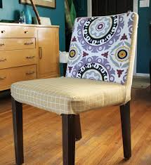 fun fabric slip cover for dining room chairs