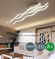 Wave Ceiling Light Amazon Com Bosslv Modern Wave Design Led Parlor Kitchen