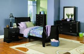 Saint Laurent Youth Bedroom Set Black Kids Room Sets Custom Youth Bedroom Furniture For Boys Style