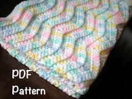 PATTERN: Chevron Baby Afghan shower gift carseat size & PATTERN: Chevron Baby Afghan, shower gift, carseat size, rippled chevron  stripes, Easy Crochet P D F, InStaNT DowNLoaD, PERMISSION to SELL Adamdwight.com